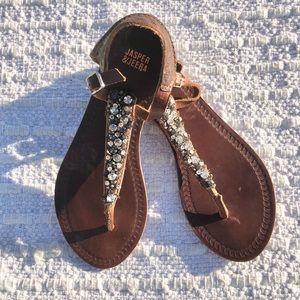 Anthropologie Jasper & Jeera Embellished Sandal
